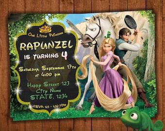 Tangled invitation, Rapunzel birthday invitation princess, rapunzel invitation, Tangled party Invite, Rapunzel party Invitation for girl
