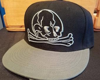 Gravestone Skull and Crossbones Baseball Hat Snapback Cap