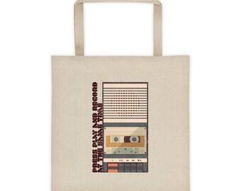 Retro tape Recorder Tote bag