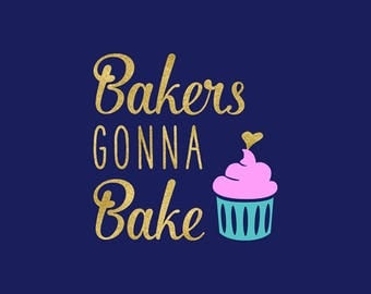 Bakers Gonna Bake SVG, Utencils Kitchen Quote, Cutting Files, Silhouette, Cricut, Kitchen Clipart, Commercial Use, Vector File, NW2343