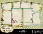 The Nature of Things Printable JournalNotes Kit, 5x7 Printable Journal,  Digital Journal Kit, Writing Journal, Writing Pages