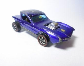 Hot Wheels RedLine PYTHON - Purple  Spectraflame - 1968 - HONG KONG - Diecast Toy Car - Hard To Find