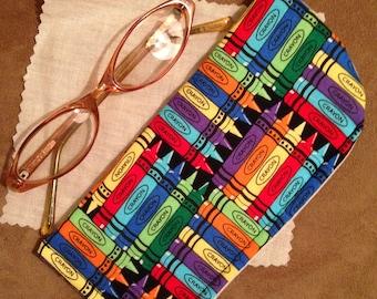 Crayon Eyeglass Case/ Eyeglass Case/ Women Eyeglass Case