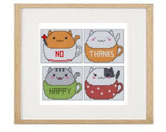 Cats 02 cross stitch pattern (download PDF)
