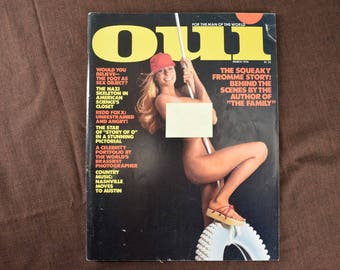OUI Magazine from March 1976, Redd Foxx, Charles Manson, Squeaky Fromme, Ferrari, Country Music, Norman Spinrad