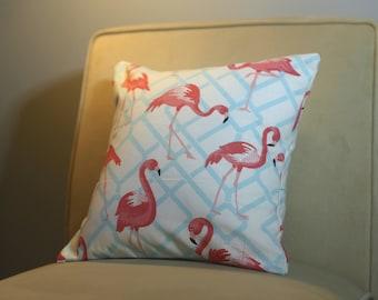 16x16 Flamingo Pillow
