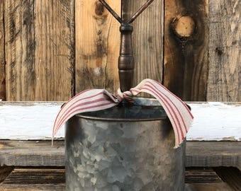 Galvanized Metal Farmhouse Caddy 4 Compartments