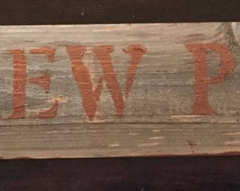 """15"""" BREW PUB Authentic old fence piece sign - Free Continental US Shipping!!"""