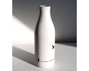 Sleek deco vase hand painted
