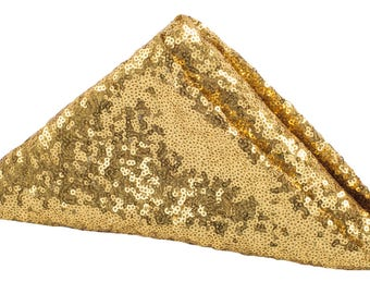 4 PACK Gold Sequin Napkin Dinner Fancy Wedding Table Settings Dinnerware Cloth Napkins Sparkly Wholesale Sequin Napkins Sale Glitter Gatsby