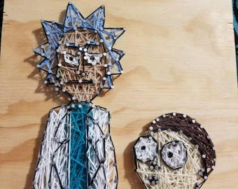 Rick and Morty String Art