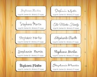 Personalized Return ADDRESS Labels - Family Name 1, Wedding, Newlyweds, Sets of 30