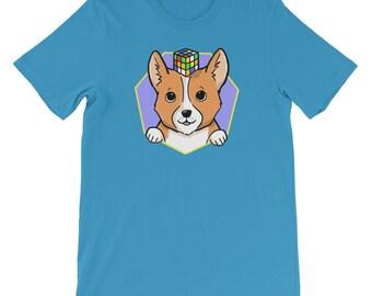 Corgi and Cube Short-Sleeve Unisex T-Shirt