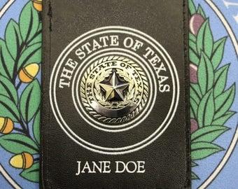 Custom State of Texas ID Holder