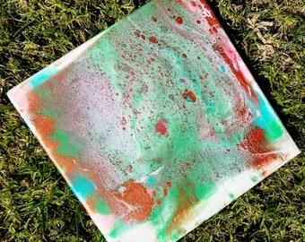 Multi Color Fluid Art Acrylic Painting