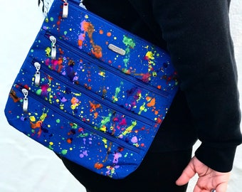 Custom splatter paint satchel