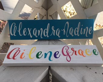 Custom Name Sign, 3x16in.
