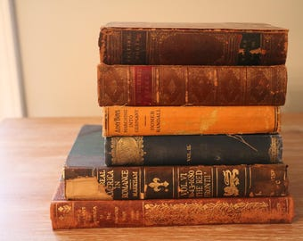 Set of 6 Antique Books