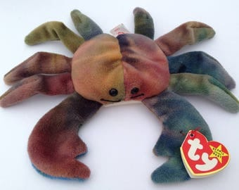 Ty Beanie Babies Claude the Crab 1996 Generation 5 with 6 various tush tag