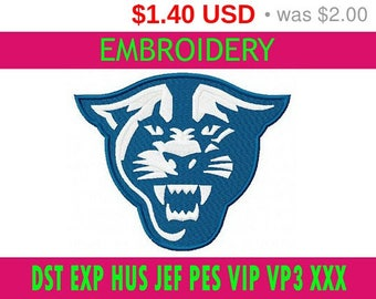 SALE 30% Georgia State Panthers embroidery / embroidery designs logo / Sports logo embroidery design / American football