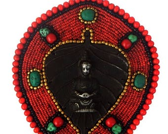 Buddha on beads Wall Hanging- Bring Peace