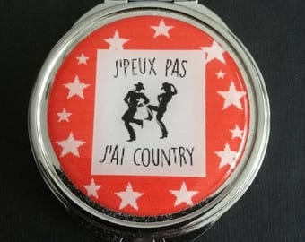 "Pocket mirror ""I can't I have country"""