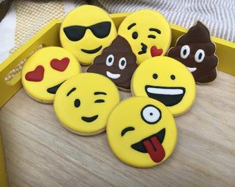 Emojis cookies..What!- 12 cookies