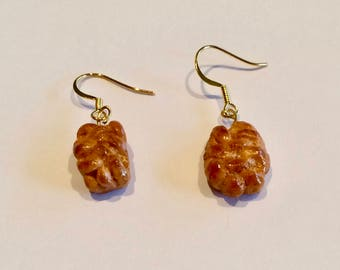Polymer Clay Challah Bread Earrings