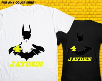 Batman / Iron On Transfer / Boy Birthday Shirt Design / DIY Shirt / High Resolution / For Any Color T Shirt / 12 Hours Turnaround Time