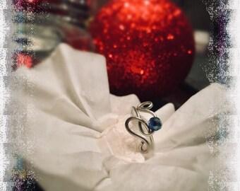 Indigo Slowly Ring by LadybugLuxeJewelry