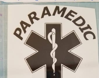Paramedic vinyl decal/sticker