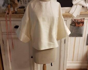 Beige Top with wide sleeves