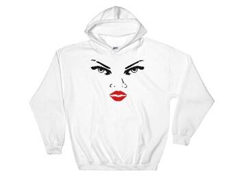 Hooded Sweatshirt woman face
