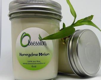 Handmade natural soy wax candle