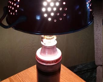 Vintage Homemade THERMOS TABLE LAMP
