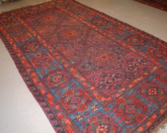 Old Caucasian Soumak Carpet, Excellent Condition, Good Colour, Circa 1920.
