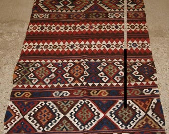 Antique Anatolian Malatya Chival Kilim, Superb Traditional Colour & Design, Circa 1900.