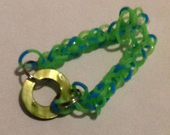 Shiny Green Charm Bracelet