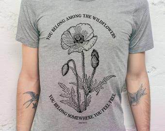 Tom Petty Mens T Shirt - Tom Petty Shirt // Mens TShirt - Mens Graphic Tee // Tom Petty Lyrics - Mens Gift // Tom Petty Wildflowers Shirt