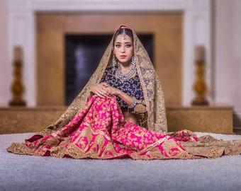 Peacock pattern Silk Lehenga – Choli