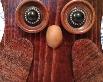 Handcrafted Wooden Owl