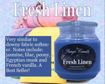 Fresh Linen Scented Jar Candle (16 oz.)!