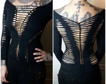 Longsleeve long sleeve shirt long black cutout