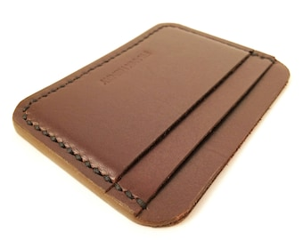 Frank Henry standard M89 Leather cardholder Brown
