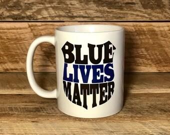 blue lives matter coffee mug mug for cop mug for police officer gift for police officer mug with sayings coffee mugs coffee cups mugs