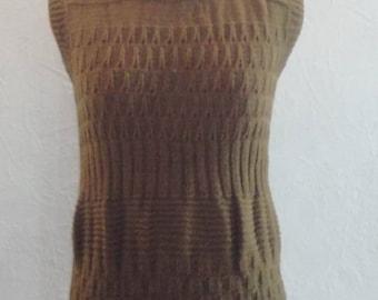 handmade sleeveless sweater