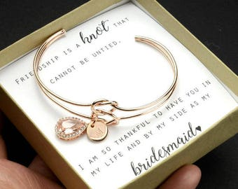 Personalized Bridesmaid Gift, Bridesmaid Jewelry Set, Bridesmaid Earrings and Necklace Bracelet, will you be my bridesmaid,Bridal Party Gift