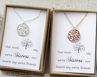 Inspirational sister gift,gifts for sister,sister birthday gift,sister necklace,sister in law,sister jewelry, sister gifts ,tree Necklace