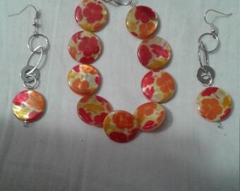 True Orange Necklace & earrings