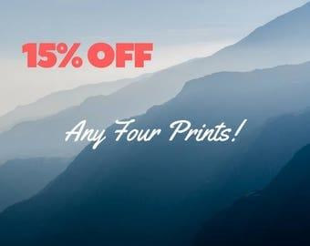 Multiple Prints, 15% off, sale